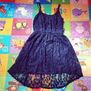 Dresses & Skirts - High-Low Lace Navy Dress